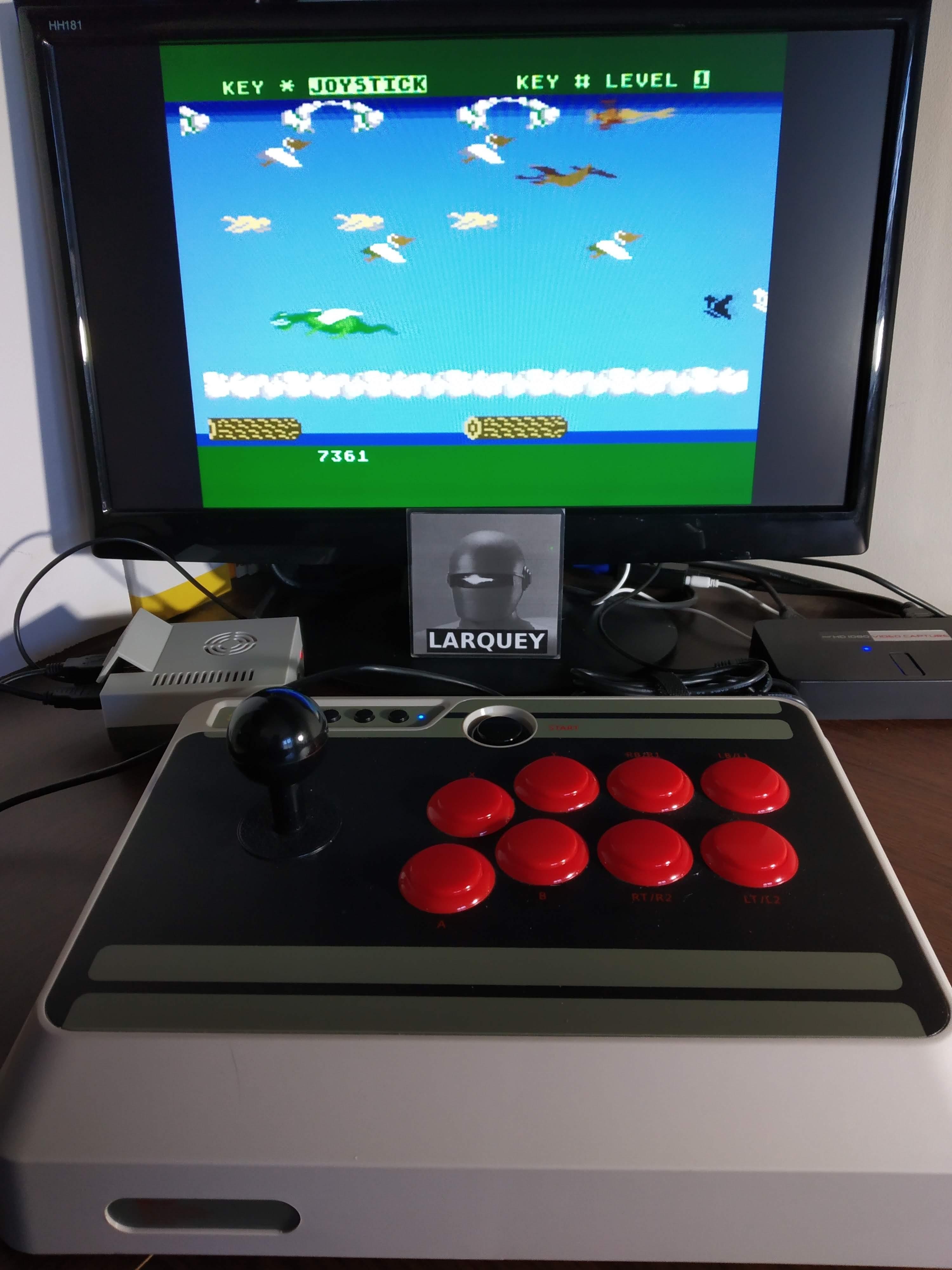 Larquey: Frogger II: Threedeep (Atari 5200 Emulated) 7,361 points on 2019-11-11 11:23:17