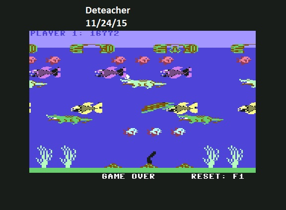 Deteacher: Frogger II - Threedeep: Easy (Commodore 64 Emulated) 16,772 points on 2015-11-24 16:45:17