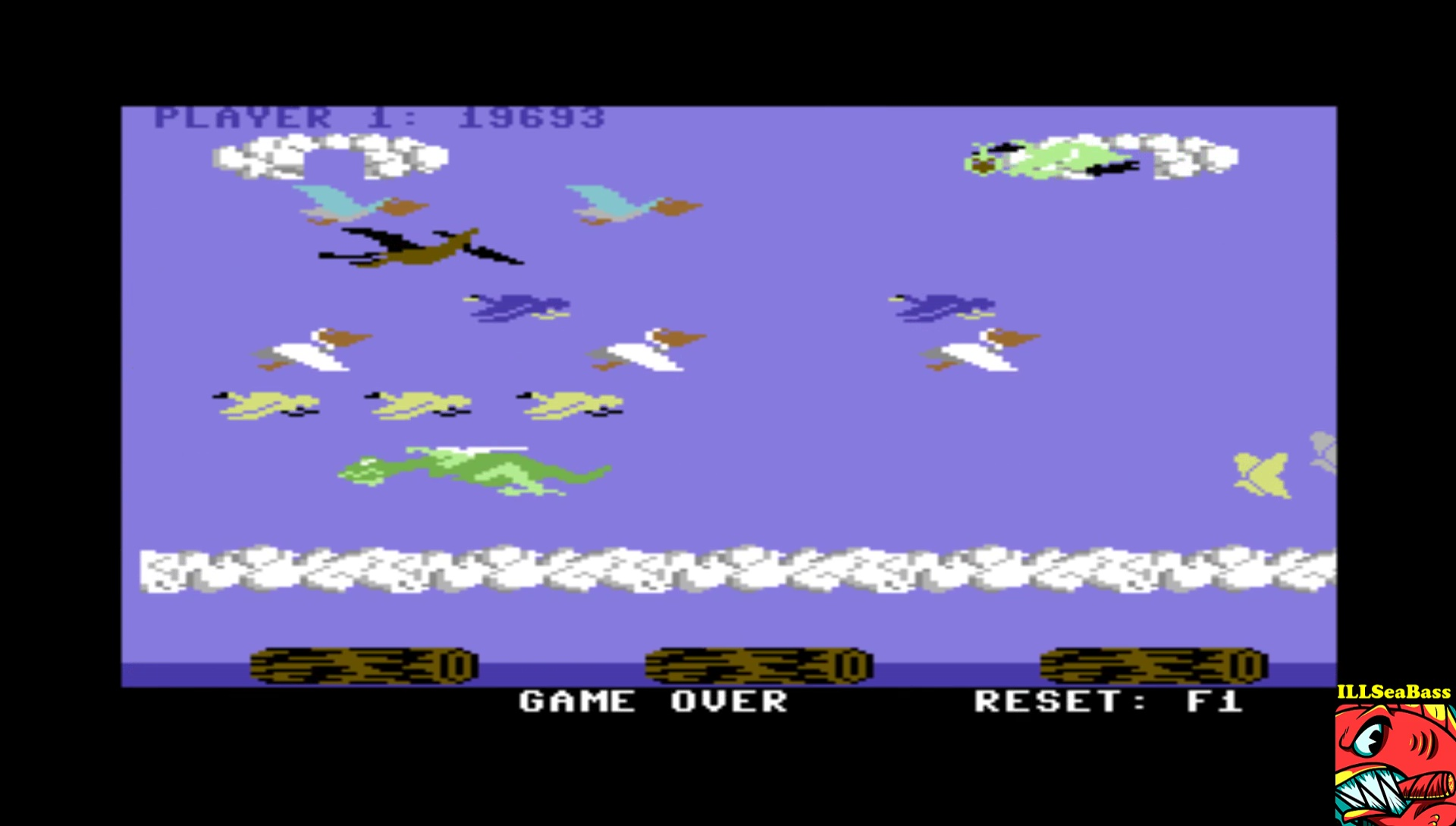 ILLSeaBass: Frogger II - Threedeep: Easy (Commodore 64 Emulated) 19,693 points on 2017-03-21 12:34:30