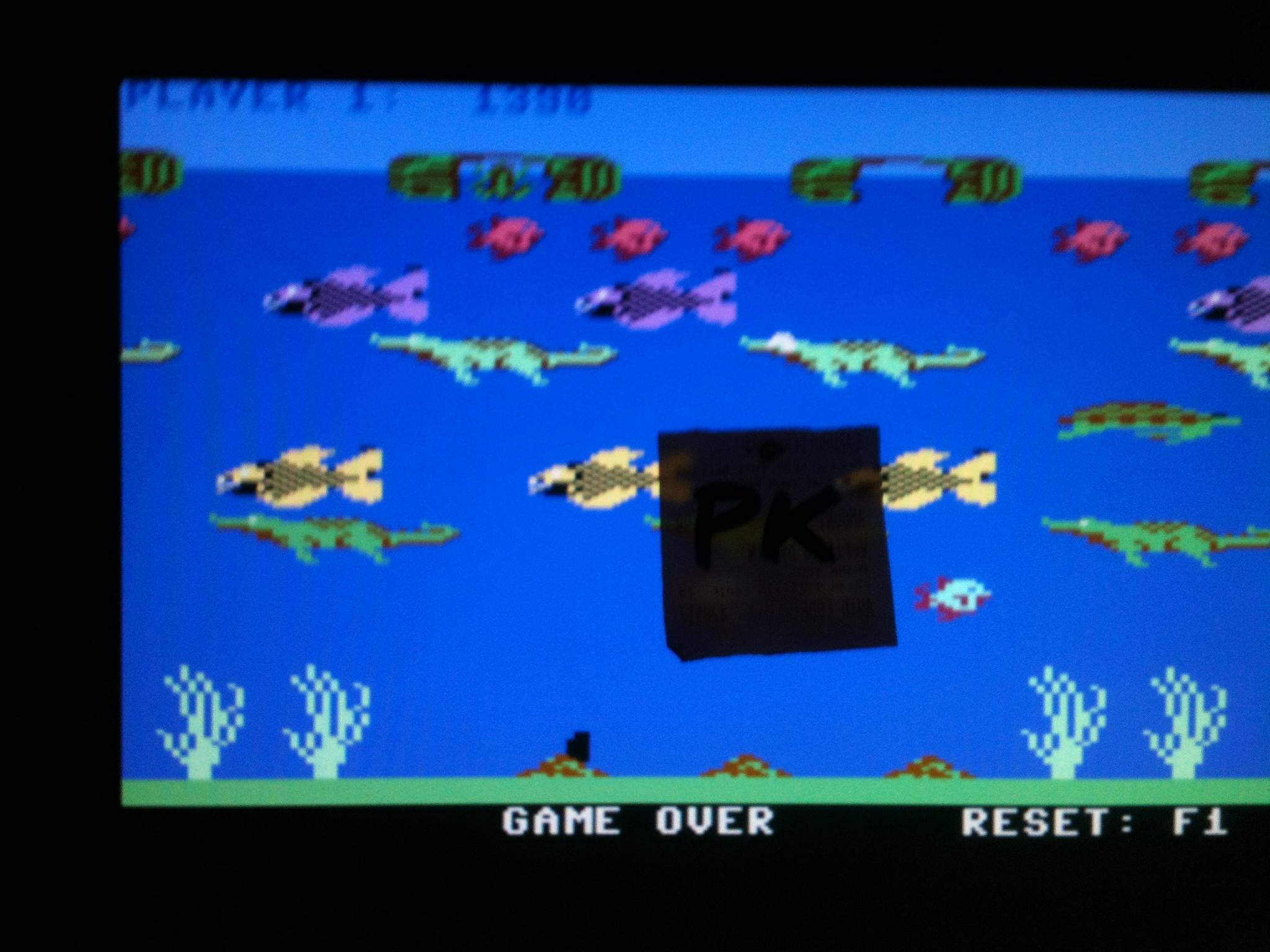 kernzy: Frogger II - Threedeep: Hard (Commodore 64 Emulated) 1,330 points on 2015-12-19 14:02:23