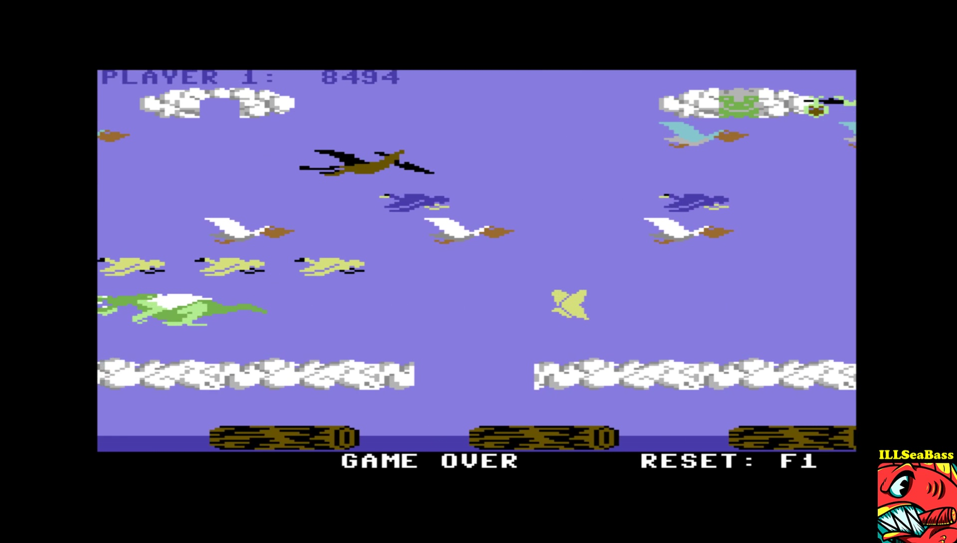 ILLSeaBass: Frogger II - Threedeep: Hard (Commodore 64 Emulated) 8,494 points on 2017-03-21 13:04:11