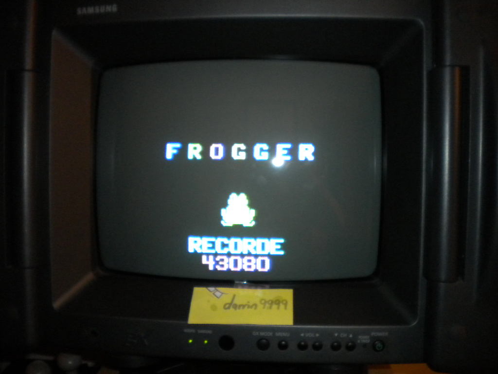 Frogger 43,080 points