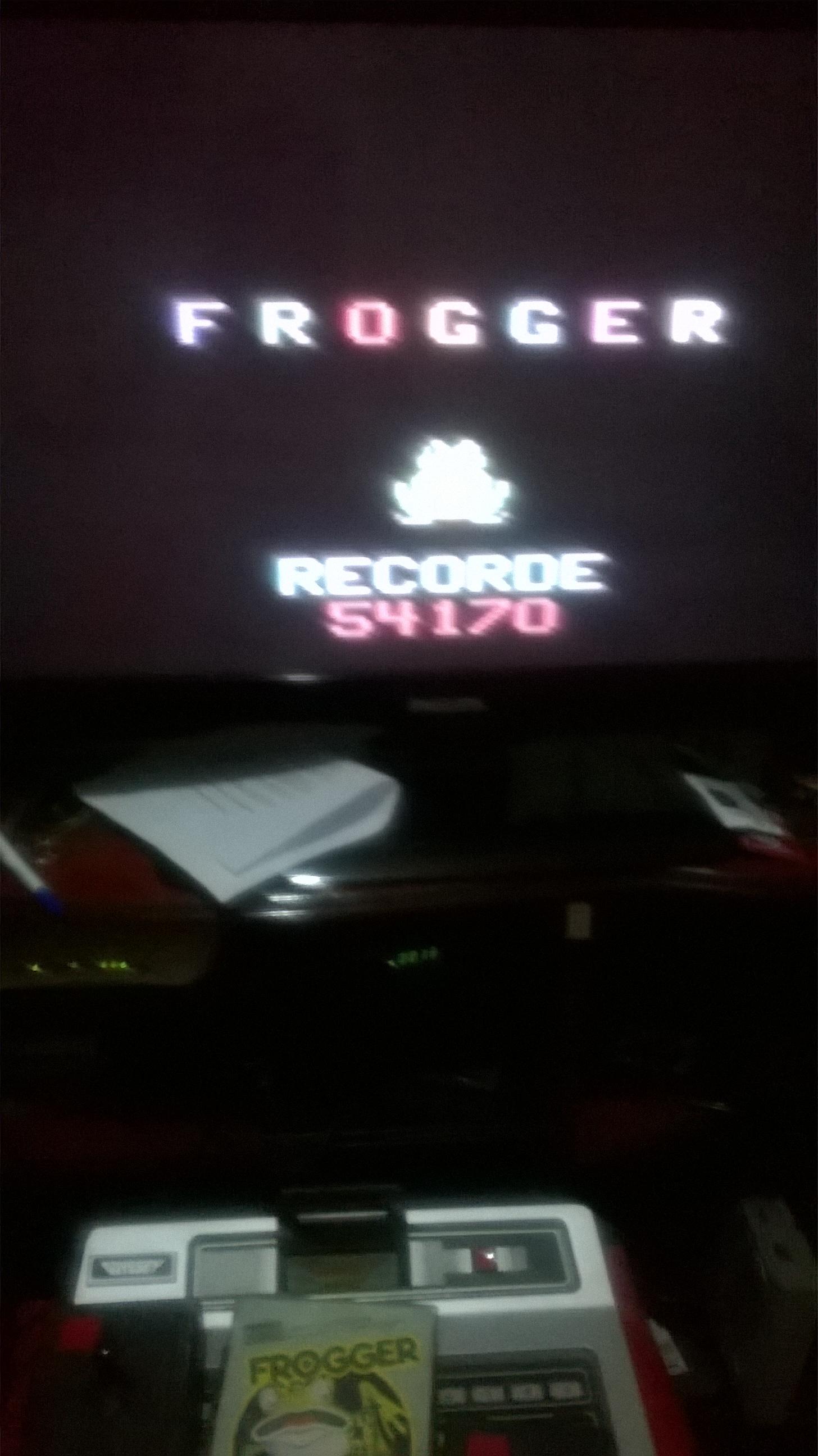 idenir: Frogger (Odyssey 2 / Videopac) 54,170 points on 2017-04-05 17:23:06
