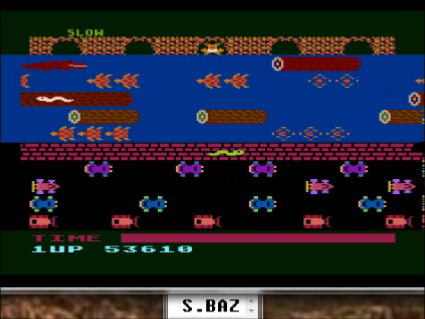 S.BAZ: Frogger [Parker Bros] (Atari 400/800/XL/XE Emulated) 53,610 points on 2016-05-22 19:21:13