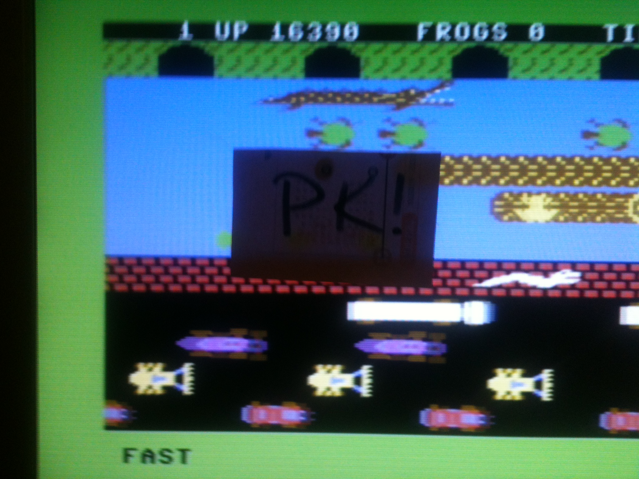 kernzy: Frogger: Parker Bros [Fast] (Commodore 64 Emulated) 16,390 points on 2015-11-19 17:42:08