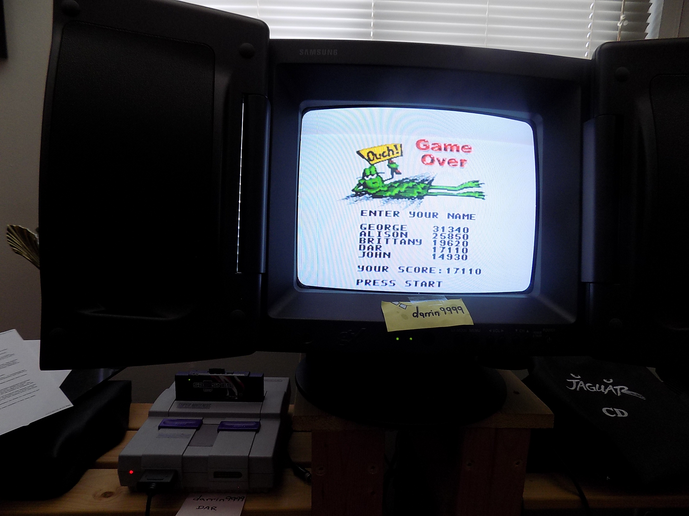 darrin9999: Frogger (SNES/Super Famicom) 17,110 points on 2019-01-20 10:35:53
