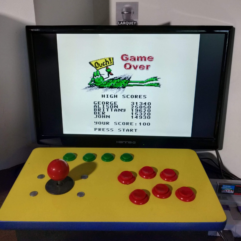 Larquey: Frogger (SNES/Super Famicom Emulated) 15,320 points on 2020-08-22 06:24:36