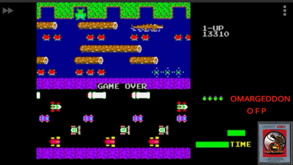 Frogger 13,310 points