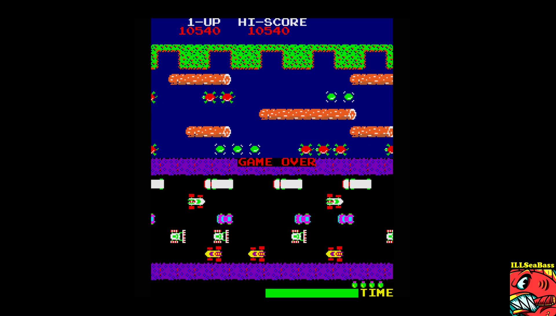 ILLSeaBass: Frogger (Sharp X68000 Emulated) 10,540 points on 2017-06-26 22:16:50