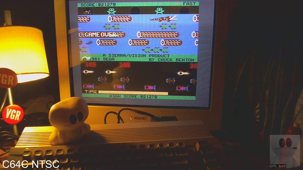 GTibel: Frogger: Sierra (Commodore 64) 21,270 points on 2020-01-28 15:24:03