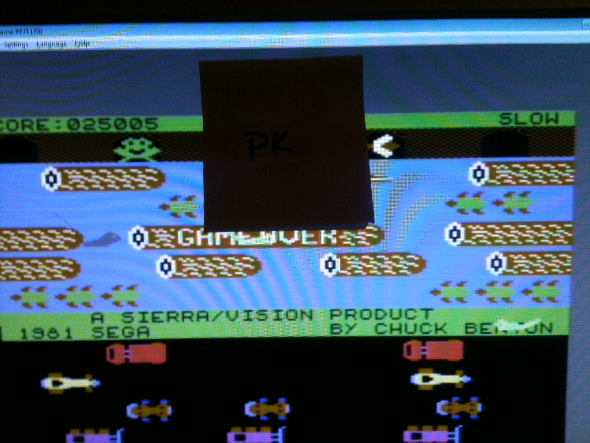 kernzy: Frogger: Sierra [Slow] (Commodore 64 Emulated) 25,005 points on 2015-09-21 18:30:00