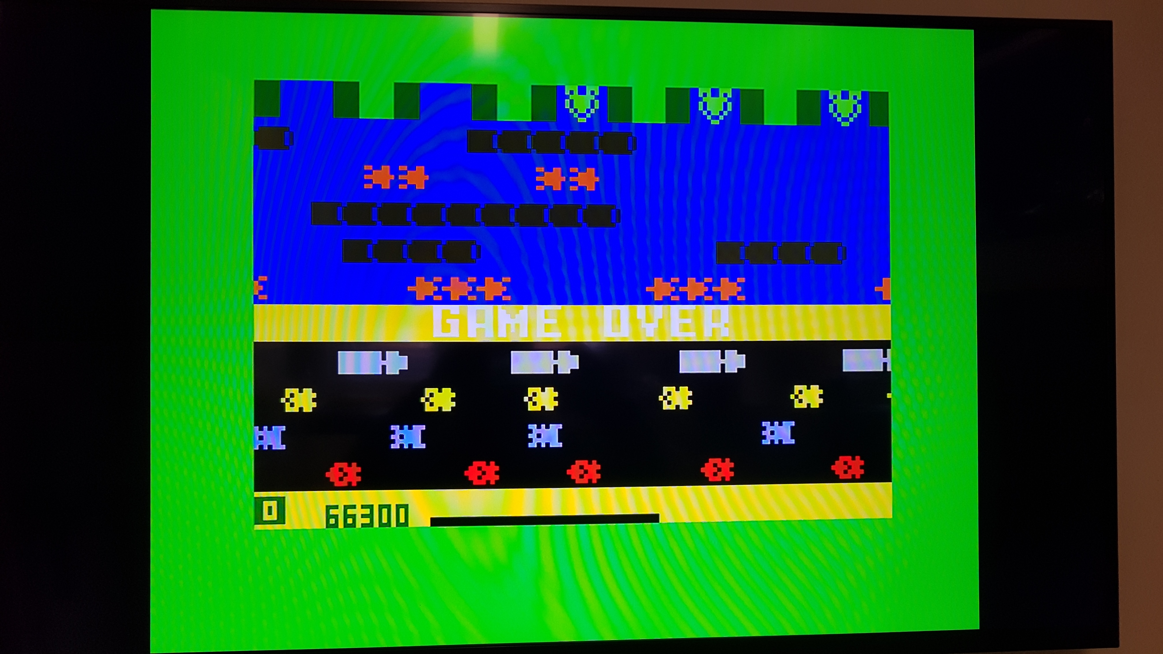Bamse: Frogger: Skill 1 (Intellivision) 66,300 points on 2018-12-22 13:45:28