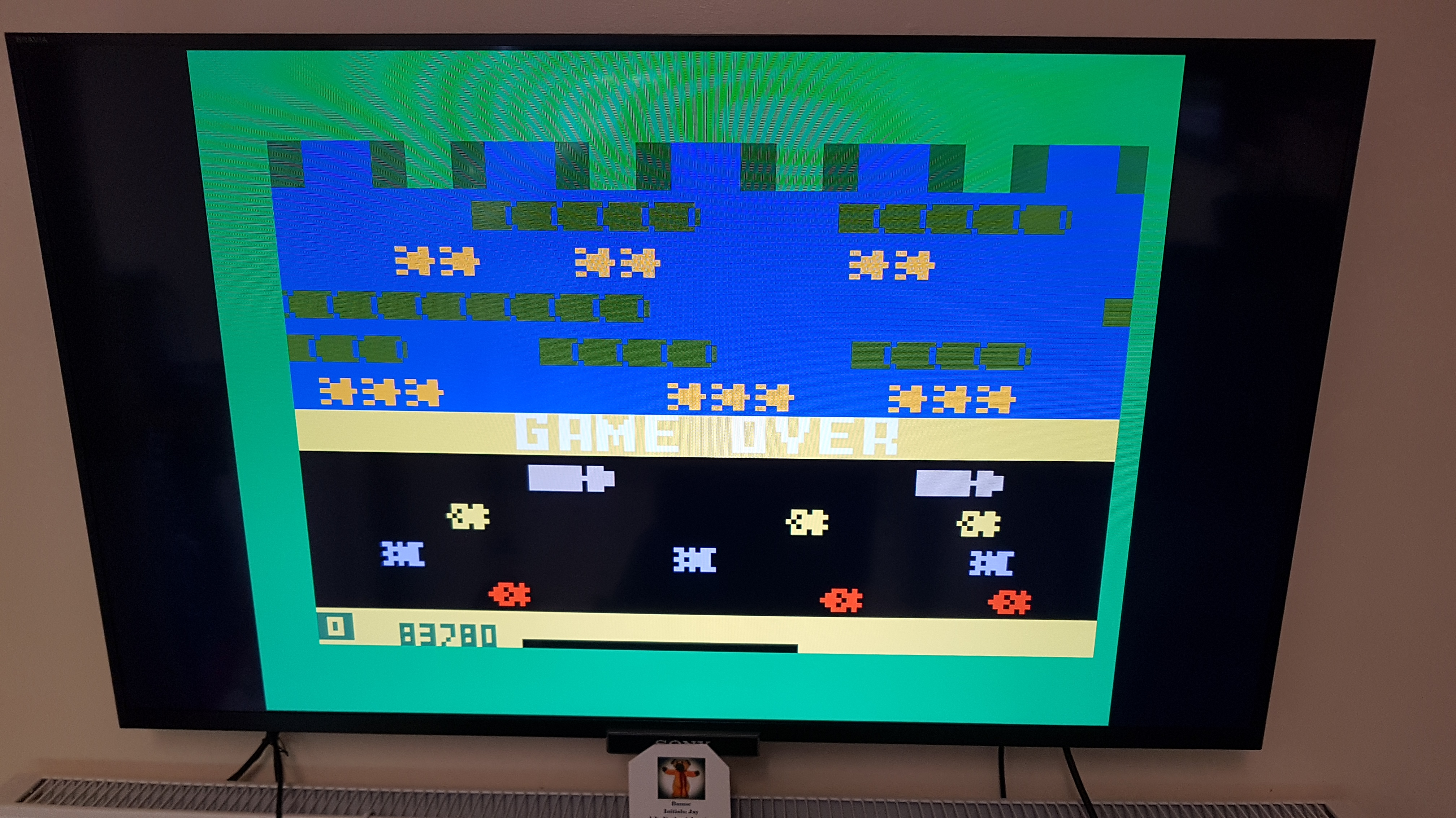 Frogger: Skill 1 83,780 points