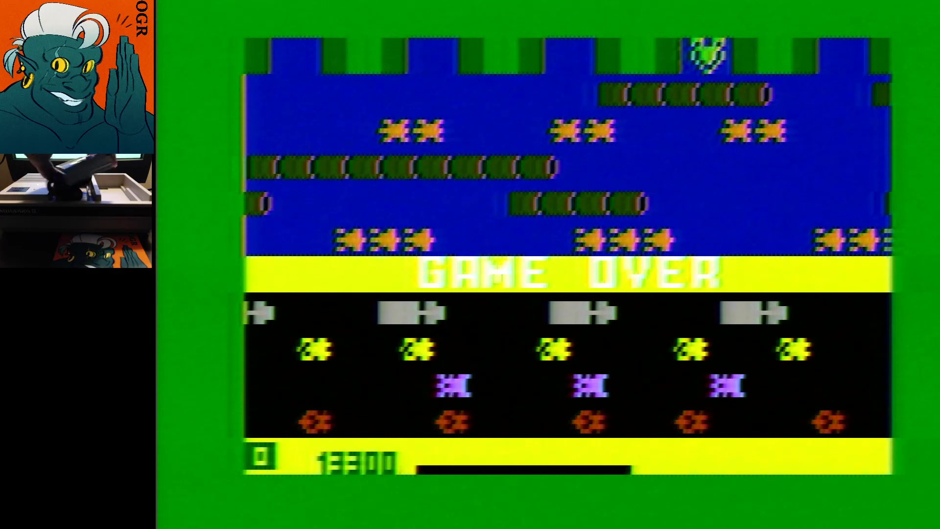 AwesomeOgre: Frogger: Skill 1 (Intellivision) 13,300 points on 2020-02-11 04:01:09