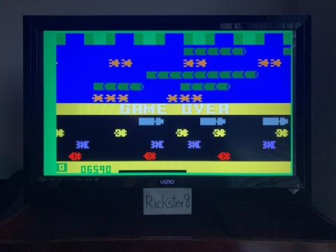 Rickster8: Frogger: Skill 4 (Intellivision Emulated) 6,590 points on 2020-09-24 20:29:05