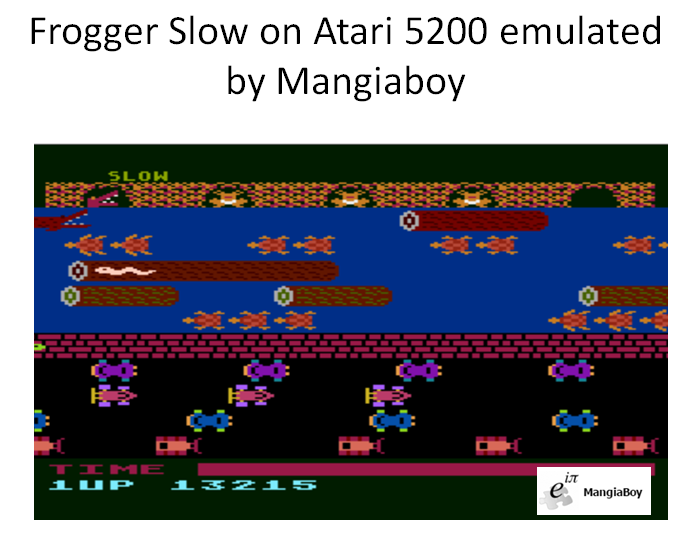 MangiaBoy: Frogger [Slow] (Atari 5200 Emulated) 13,215 points on 2016-01-17 06:51:03
