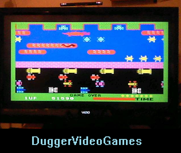 DuggerVideoGames: Frogger [Slow] (Colecovision Emulated) 51,590 points on 2016-04-13 14:32:26