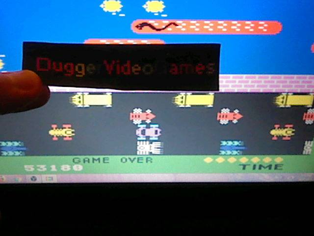 DuggerVideoGames: Frogger [Slow] (Colecovision Emulated) 53,180 points on 2018-01-22 18:33:09
