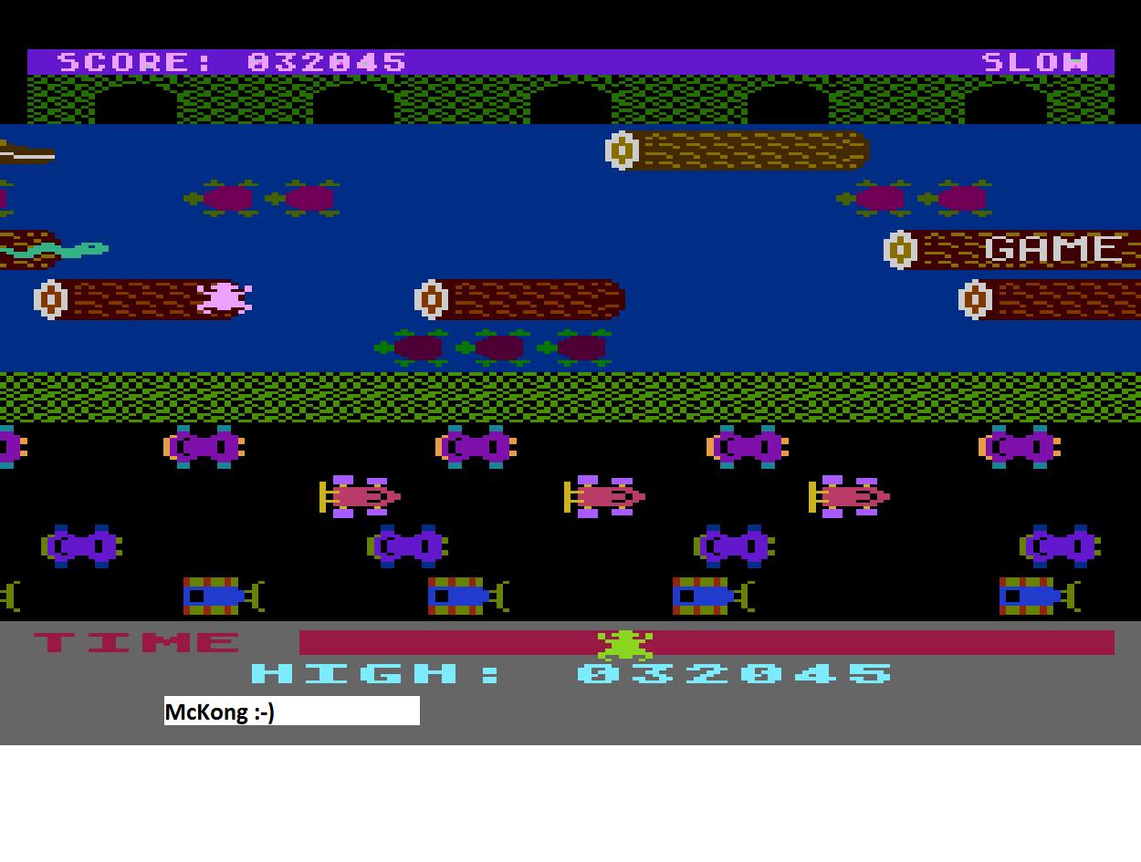 Frogger: Slow [Sierra Online/John Harris] 32,045 points
