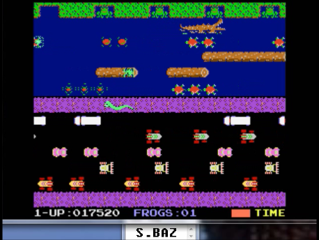 S.BAZ: Froggie (Atari 7800 Emulated) 17,520 points on 2016-02-25 04:34:08