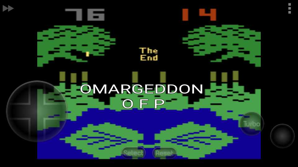 omargeddon: Frogs and Flies (Atari 2600 Emulated Novice/B Mode) 76 points on 2016-11-24 16:18:51