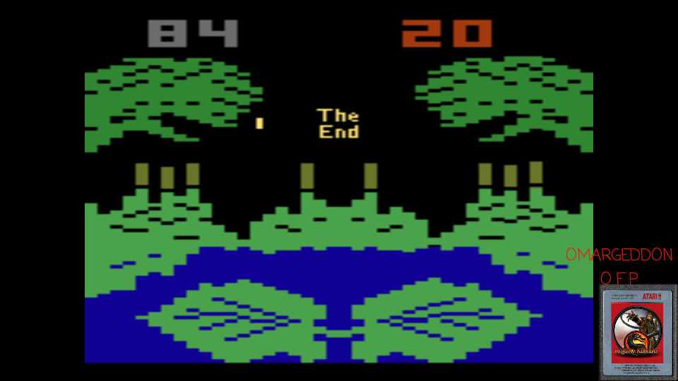 omargeddon: Frogs and Flies (Atari 2600 Emulated Novice/B Mode) 84 points on 2017-04-19 23:37:00