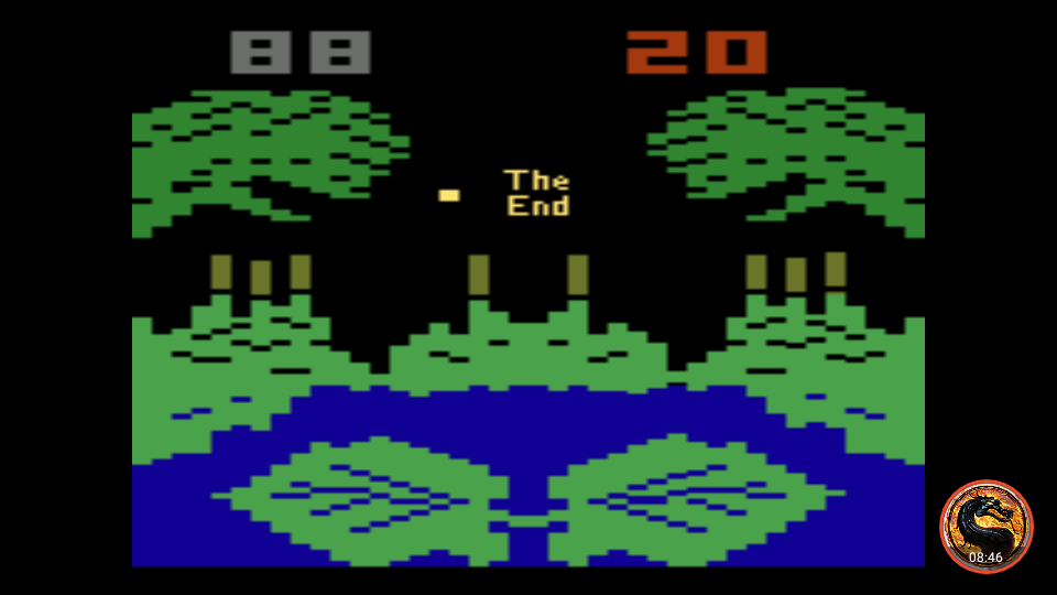 omargeddon: Frogs and Flies (Atari 2600 Emulated Novice/B Mode) 88 points on 2019-02-26 16:59:38