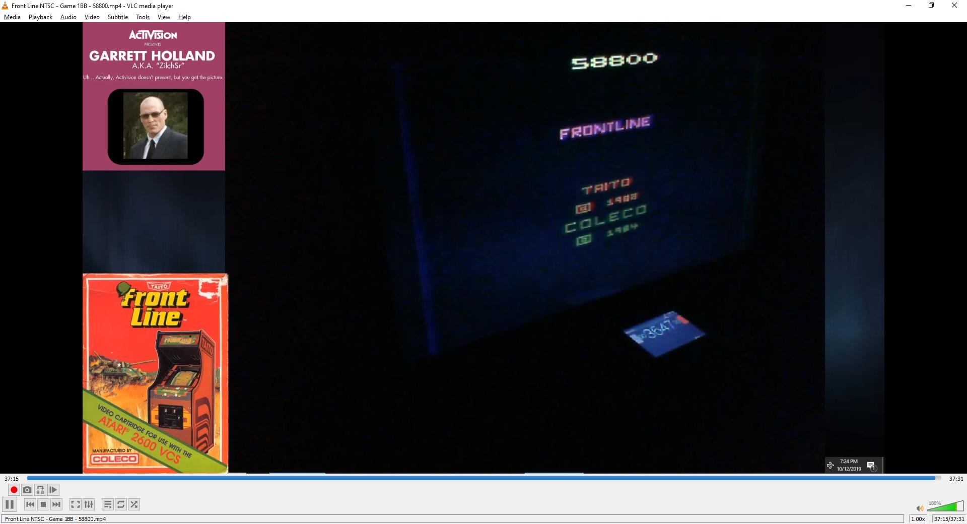 ZilchSr: Front Line (Atari 2600 Novice/B) 58,800 points on 2019-10-13 23:49:04