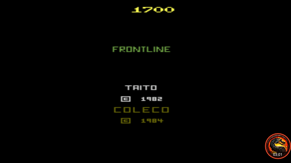 omargeddon: Front Line (Atari 2600 Emulated Expert/A Mode) 1,700 points on 2020-08-31 10:50:46