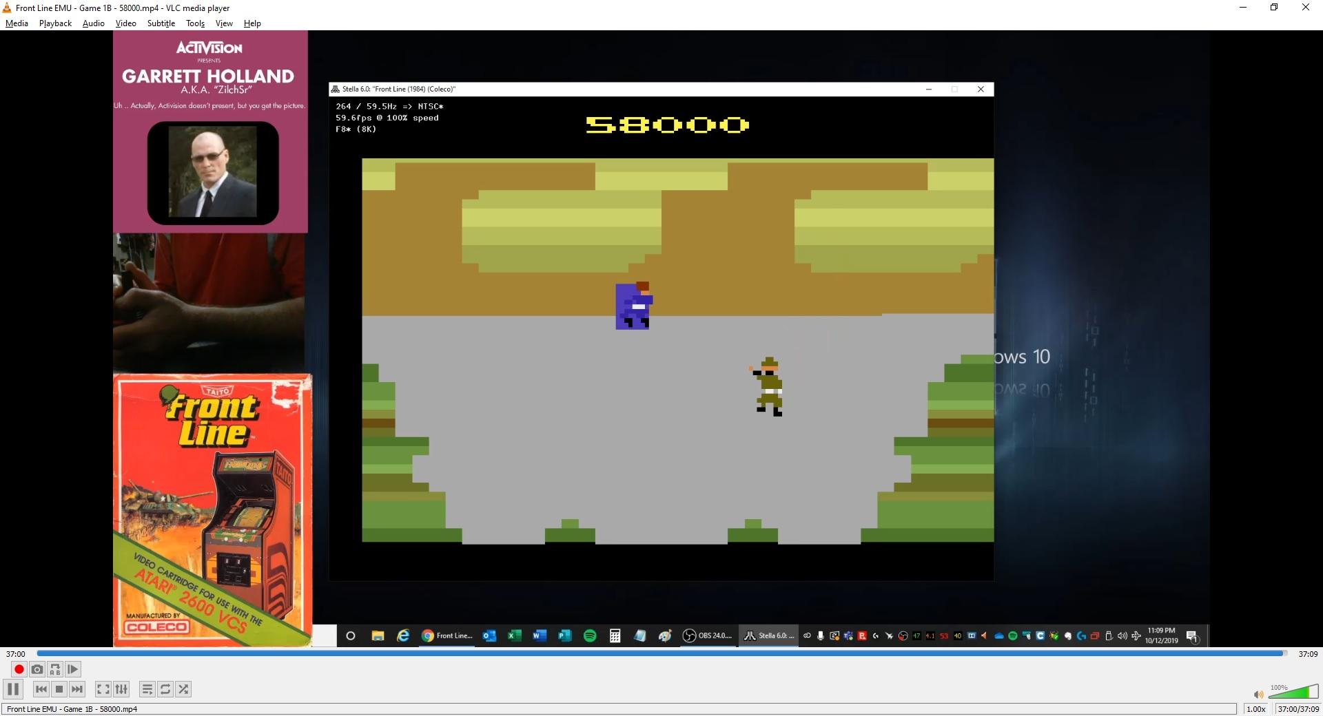 ZilchSr: Front Line (Atari 2600 Emulated Novice/B Mode) 58,000 points on 2019-10-13 23:50:10