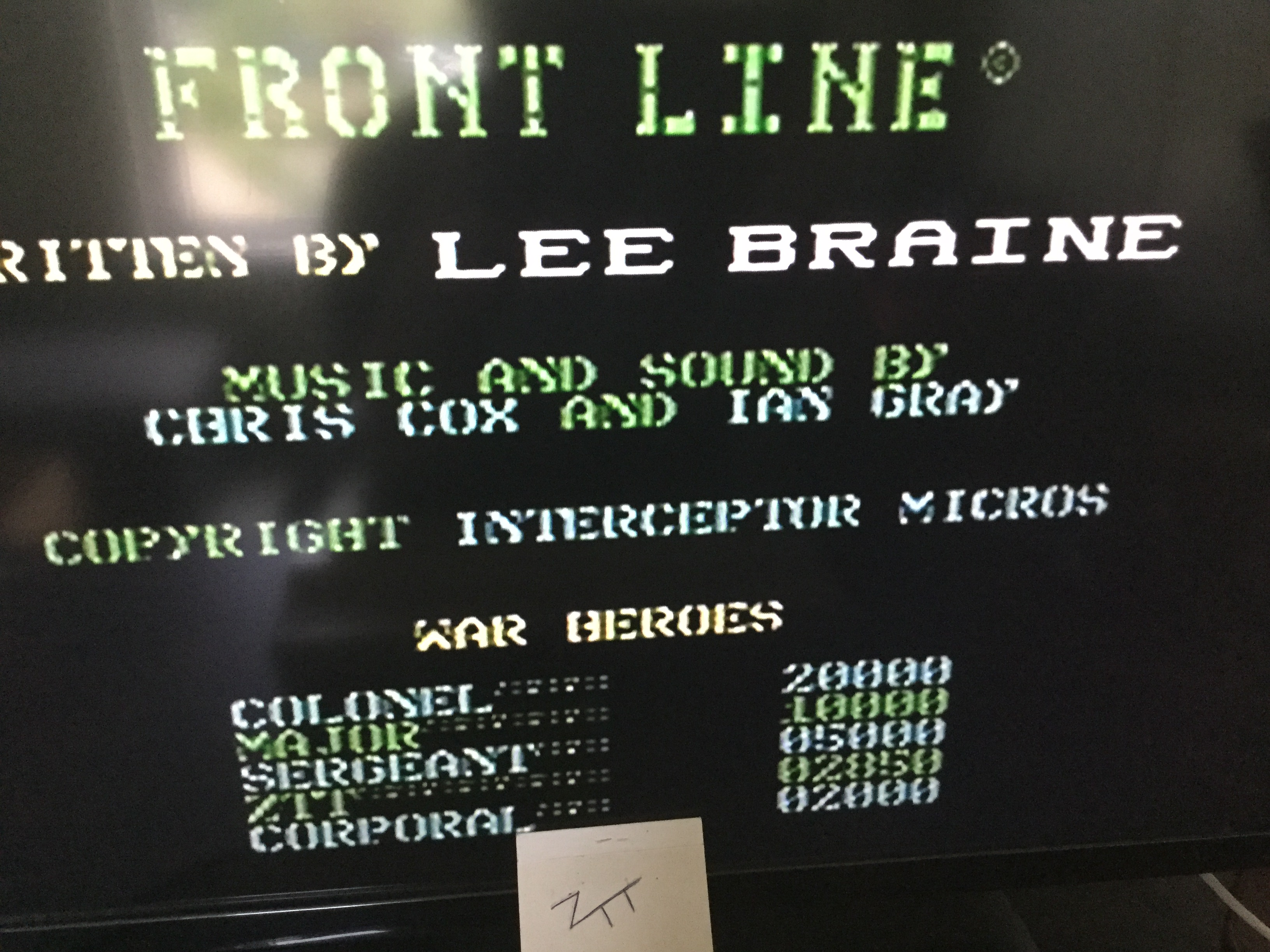 Frankie: Front Line [Interceptor Micros] (Commodore 64) 2,850 points on 2019-06-05 11:44:04