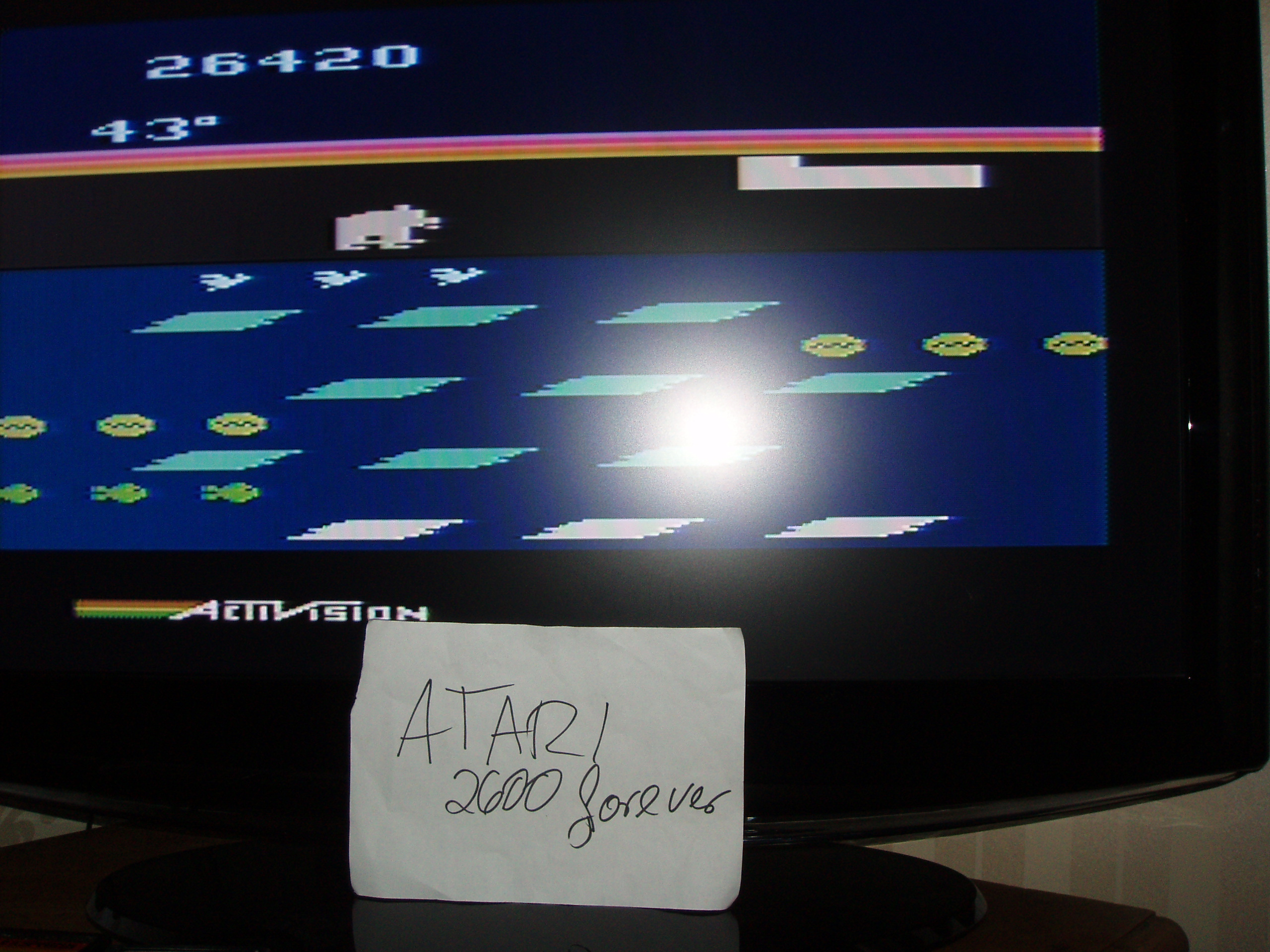 atari2600forever: Frostbite (Atari 2600) 26,420 points on 2018-04-23 03:06:43