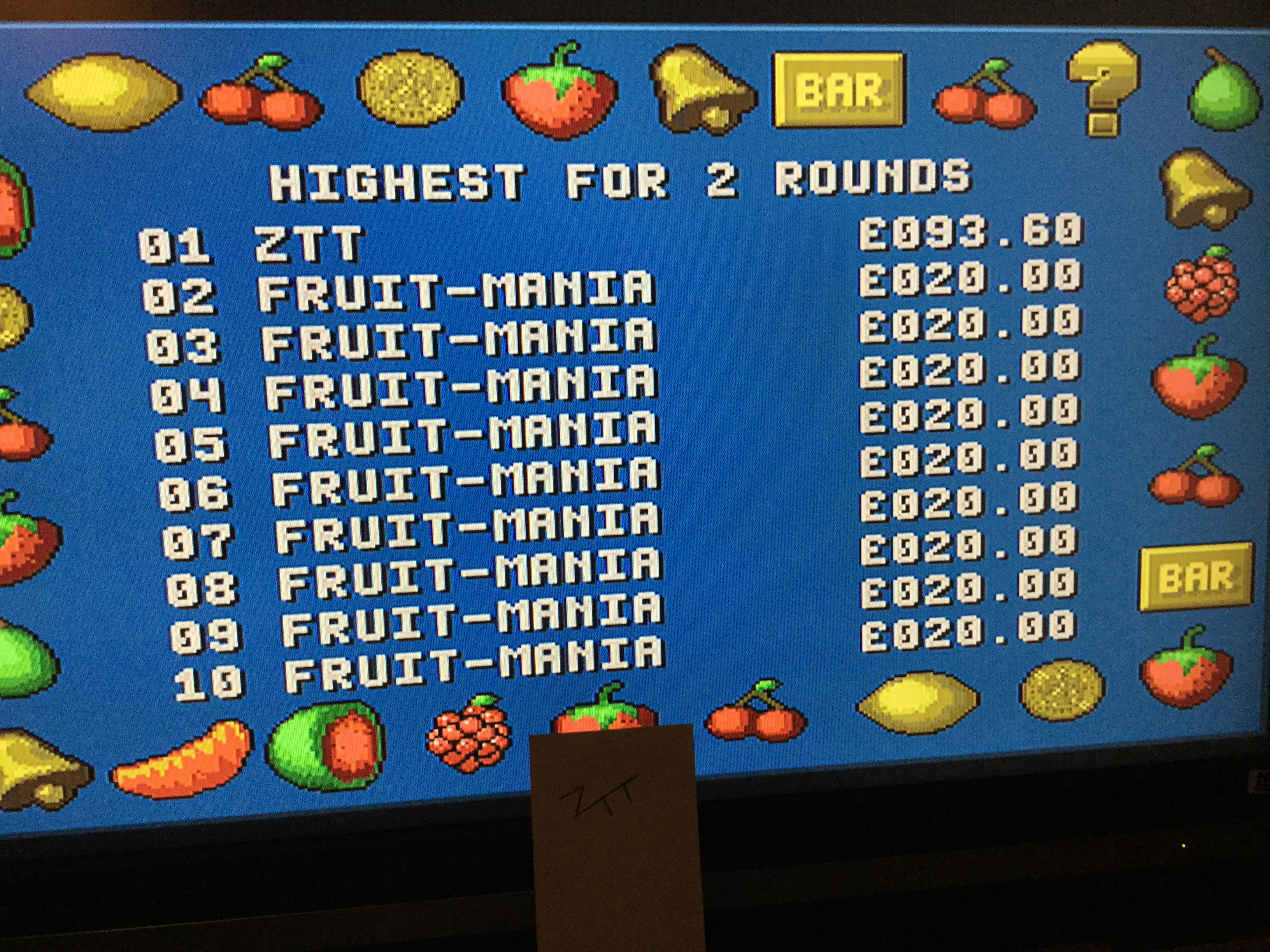 Fruit-Mania [2 Rounds] [Money * 100] 9,360 points