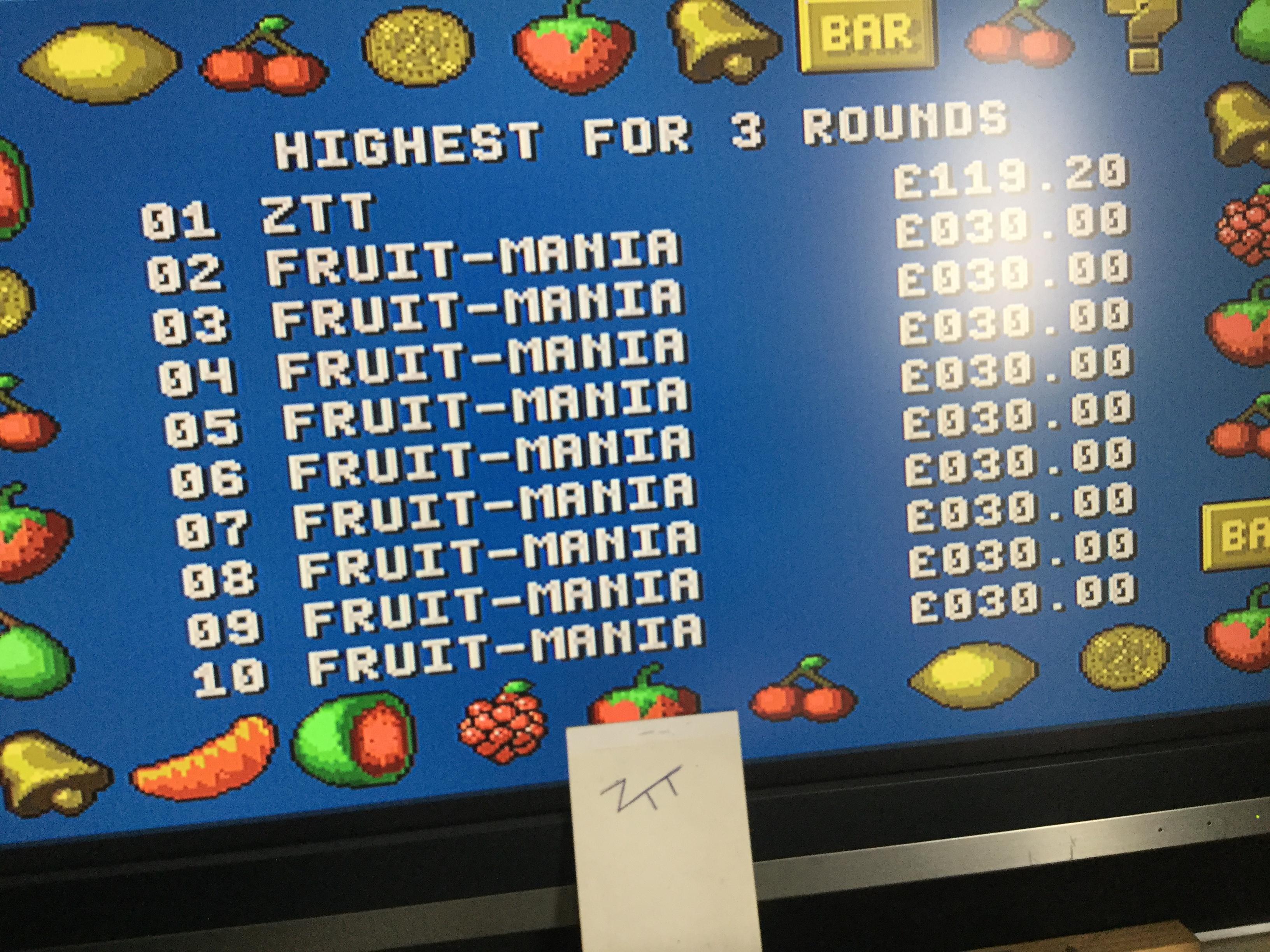 Frankie: Fruit-Mania [3 Rounds] [Money * 100] (Amiga) 11,920 points on 2017-10-15 05:27:39