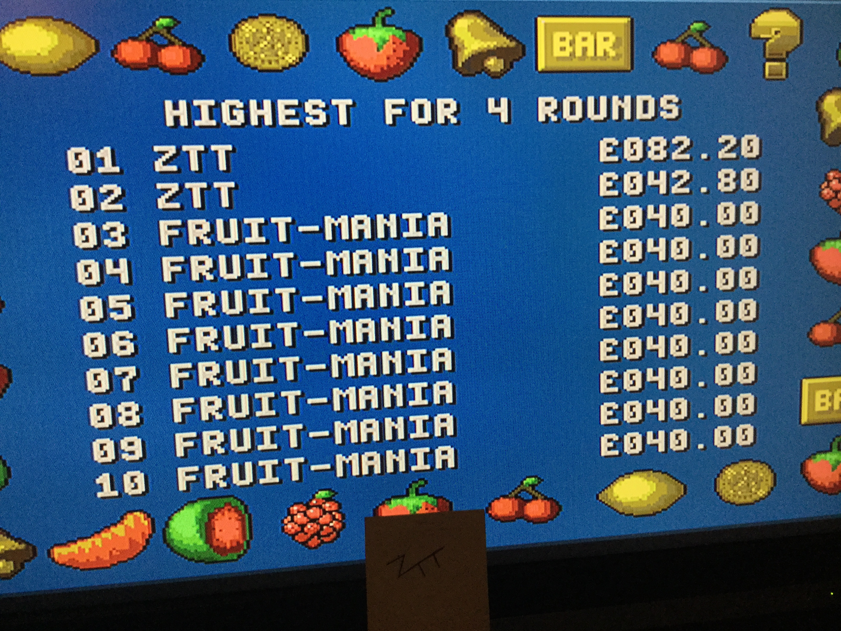 Frankie: Fruit-Mania [4 Rounds] [Money * 100] (Amiga) 8,220 points on 2017-11-20 11:29:39