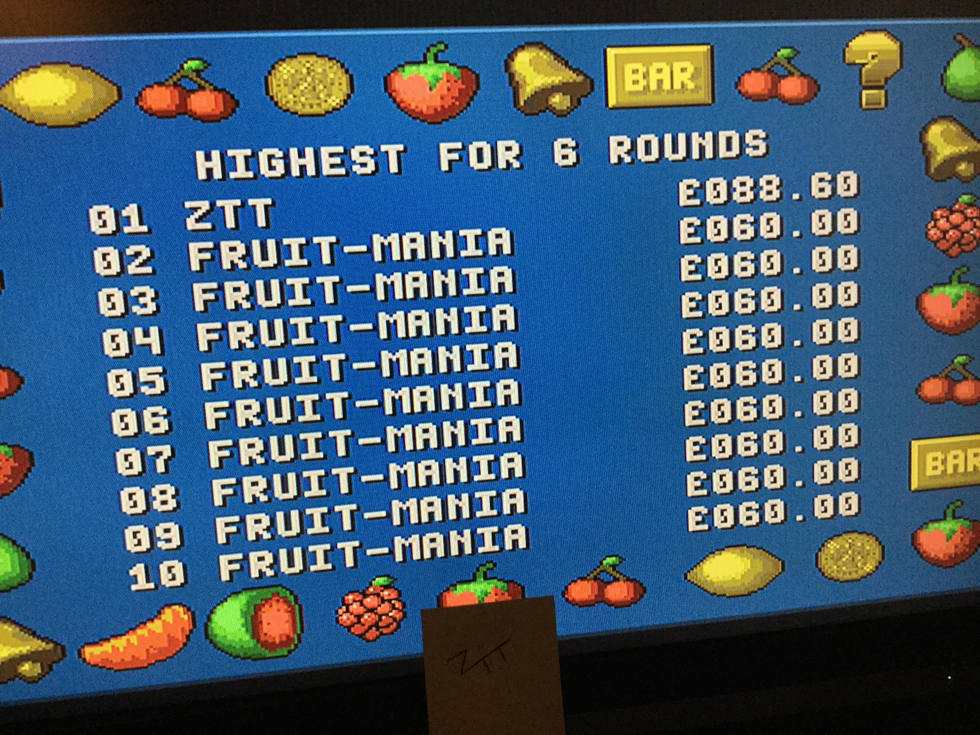 Frankie: Fruit-Mania [6 Rounds] [Money * 100] (Amiga) 8,860 points on 2017-10-20 13:22:11
