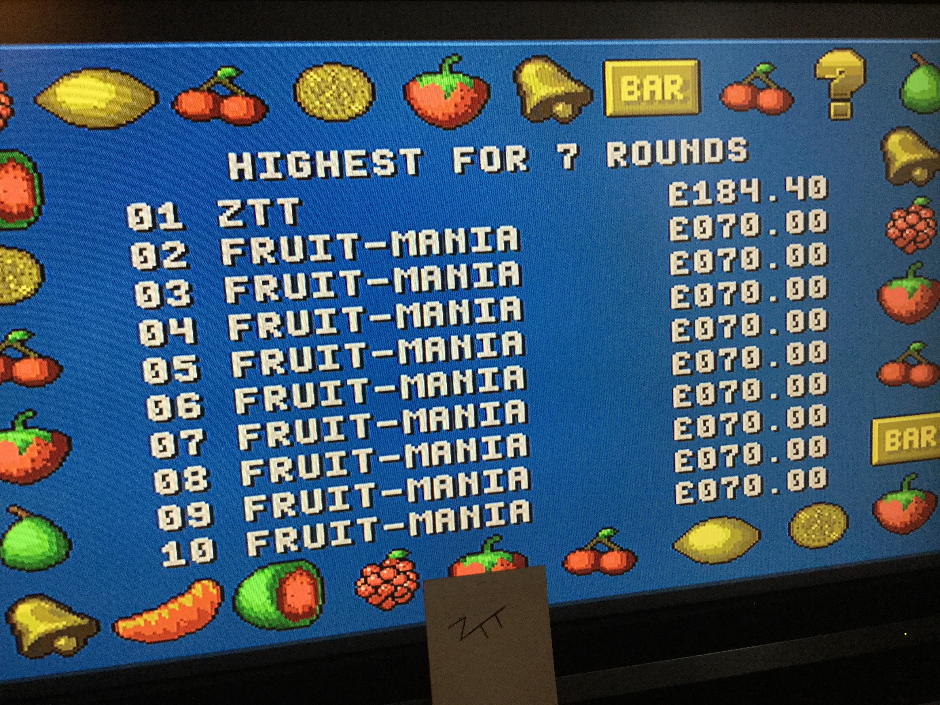 Frankie: Fruit-Mania [7 Rounds] [Money * 100] (Amiga) 18,440 points on 2017-10-14 02:38:18