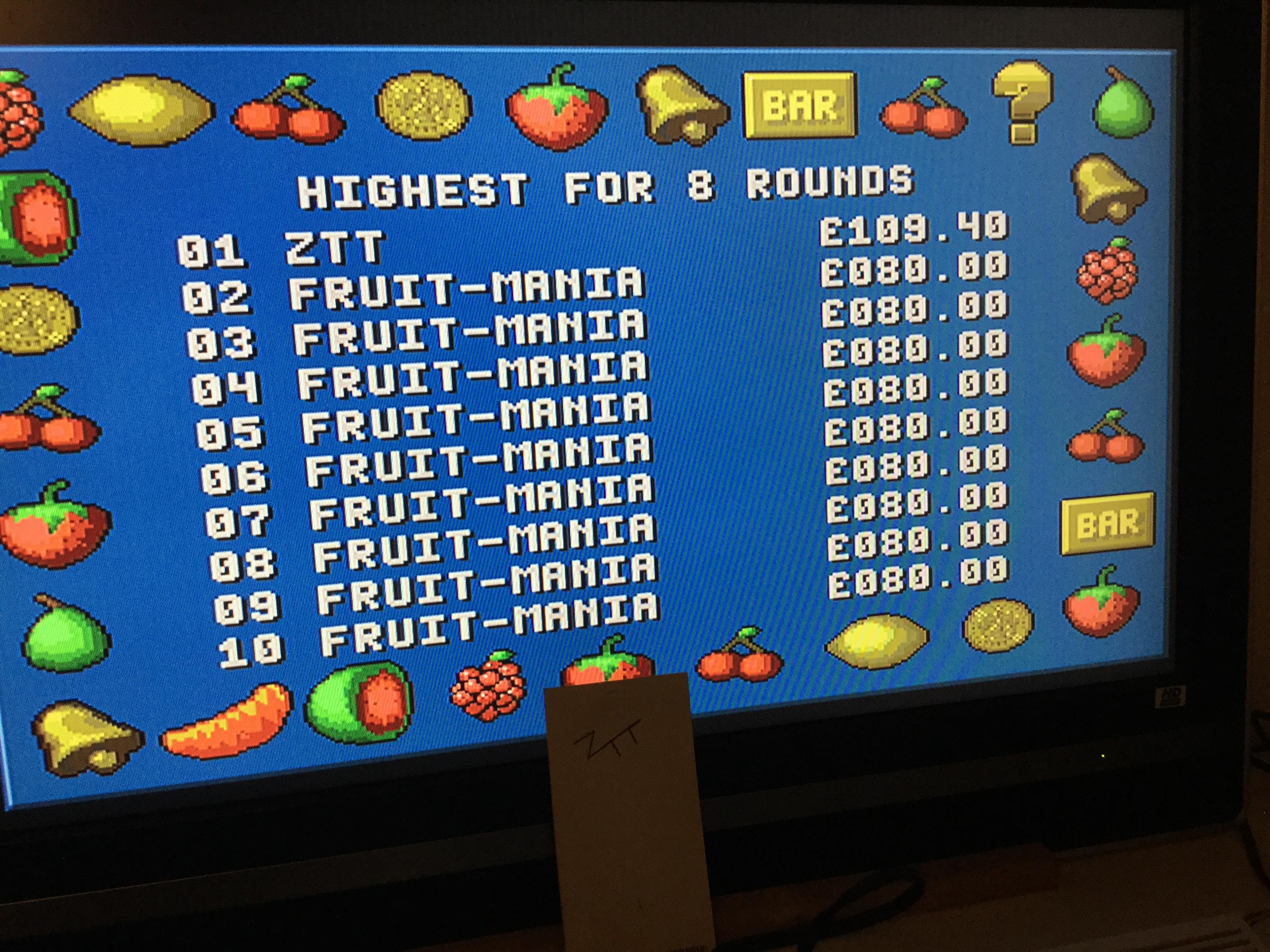 Frankie: Fruit-Mania [8 Rounds] [Money * 100] (Amiga) 10,940 points on 2017-10-13 13:55:44