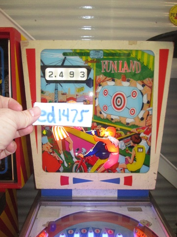 ed1475: Fun Land (Pinball: 3 Balls) 2,493 points on 2017-05-27 14:14:32