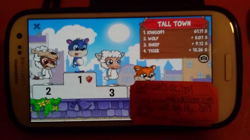 Fun Run 2: Tall Town time of 0:01:01.71