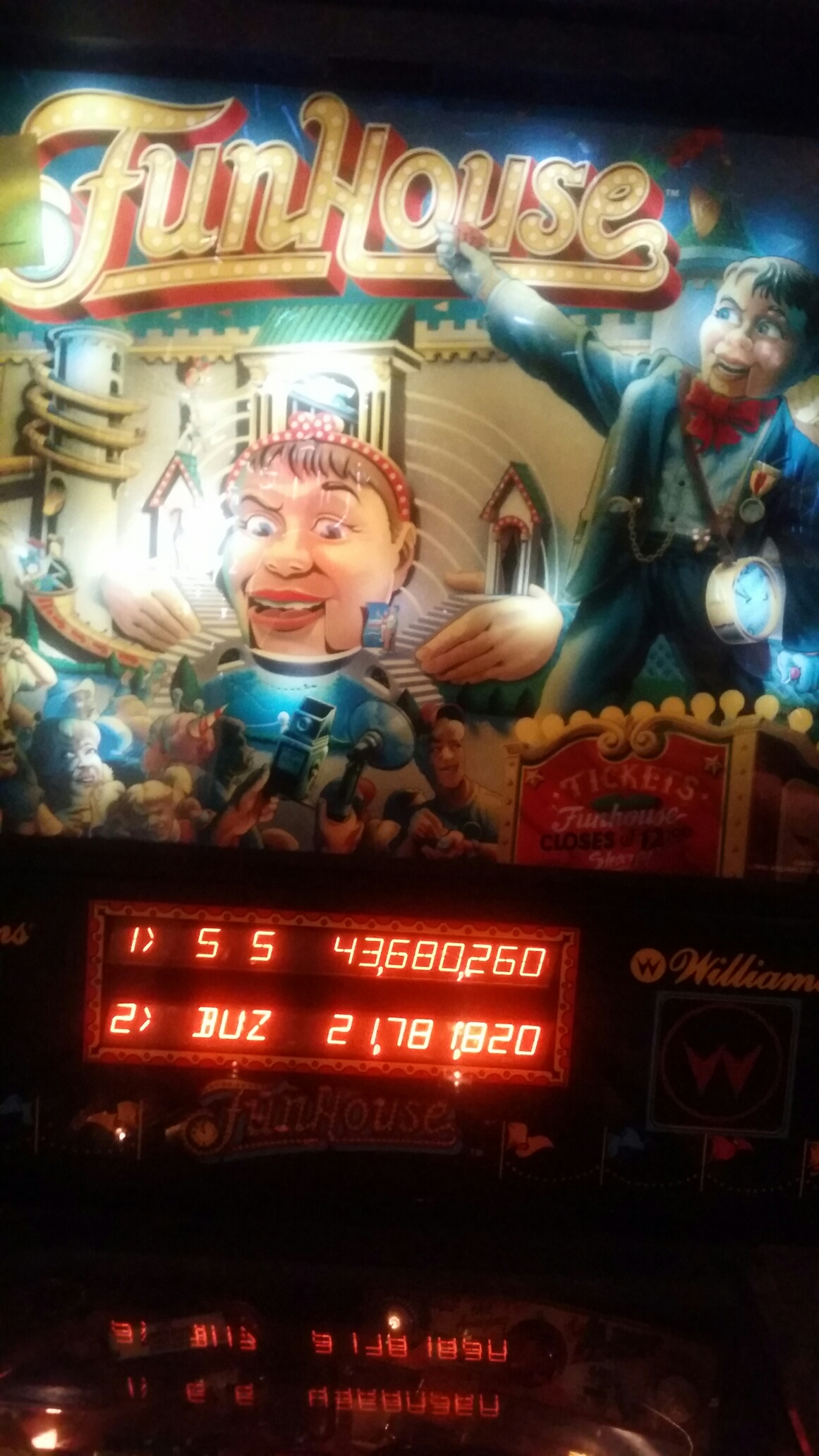 FunHouse 43,680,260 points