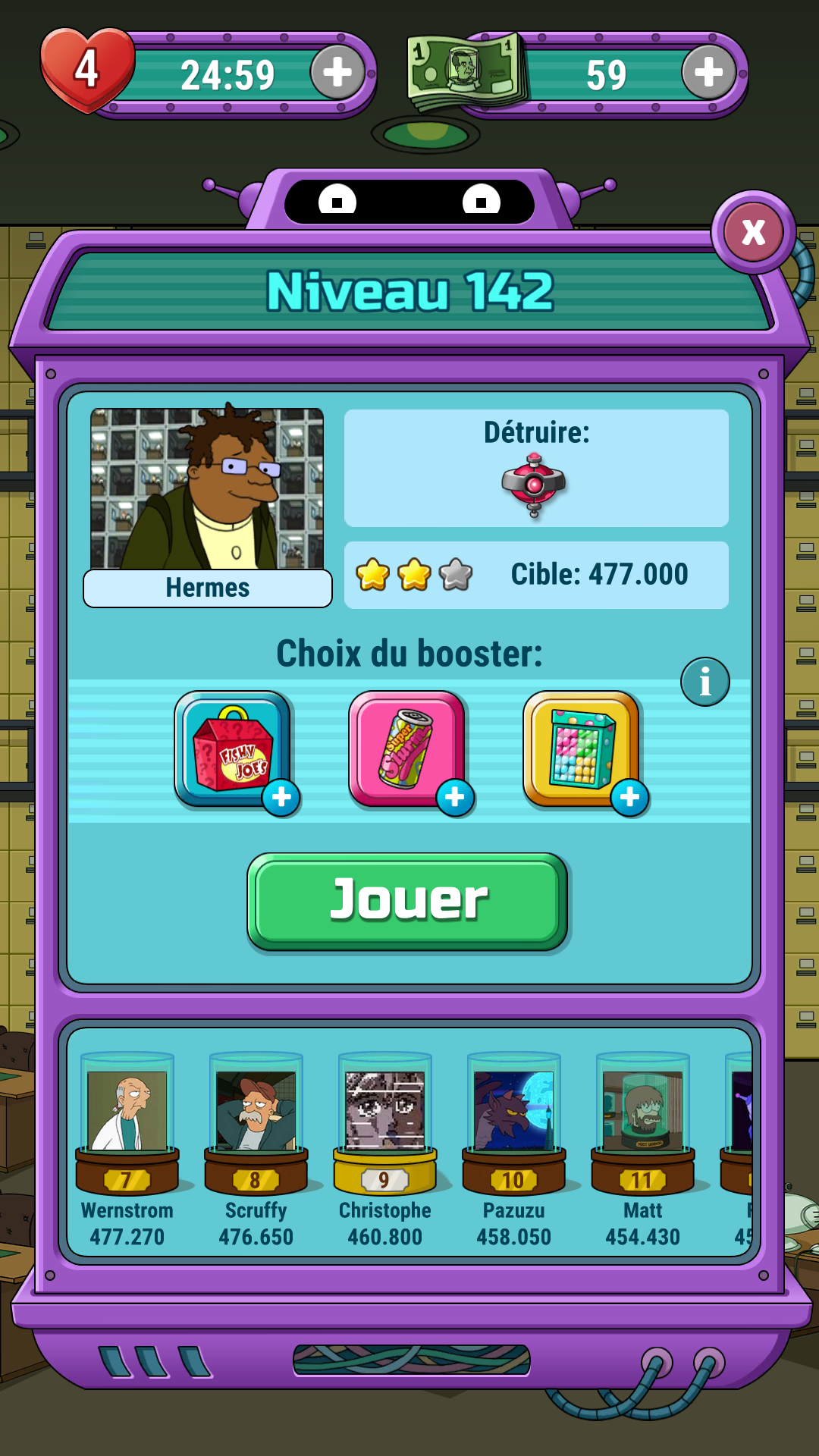 Mantalow: Futurama: Game of Drones: Level 142 (Android) 460,800 points on 2016-09-26 01:48:13