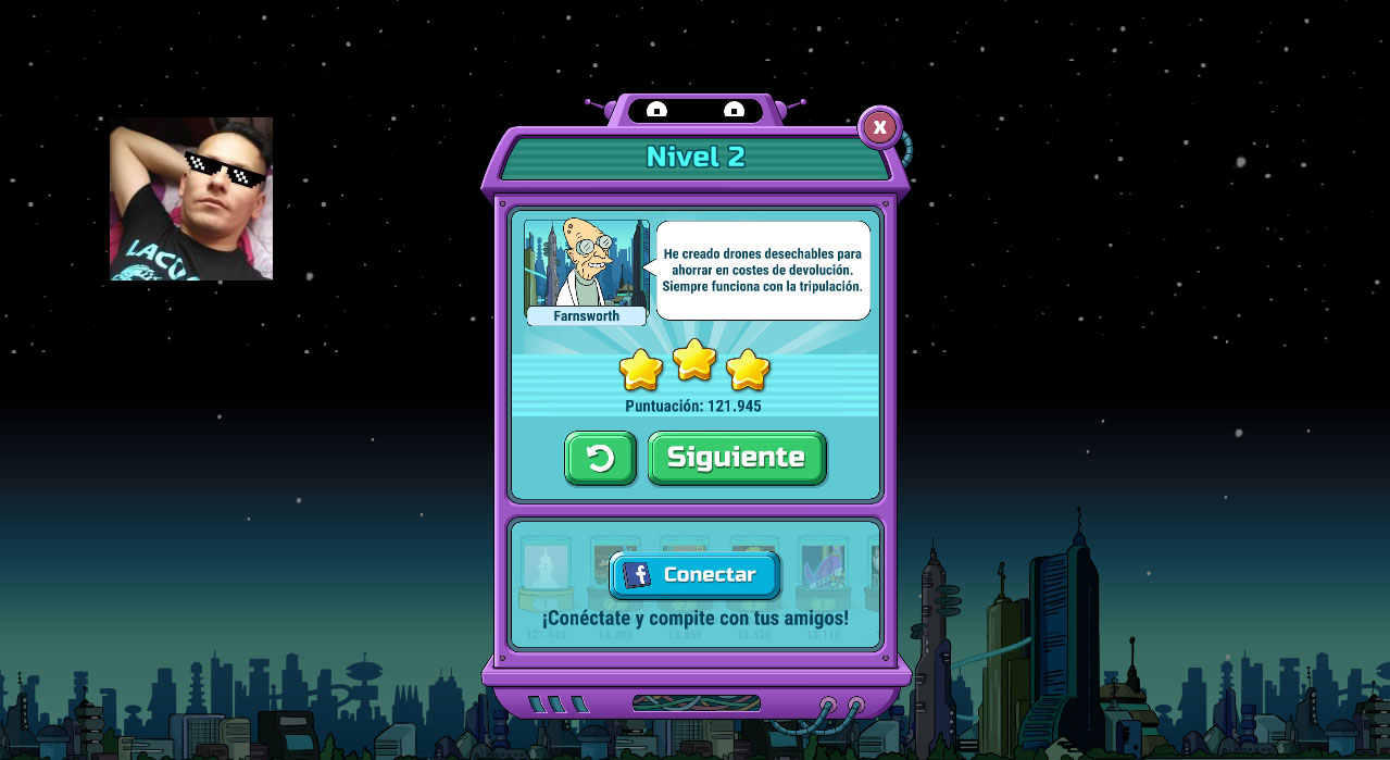 Futurama: Game of Drones: Level 2 121,945 points