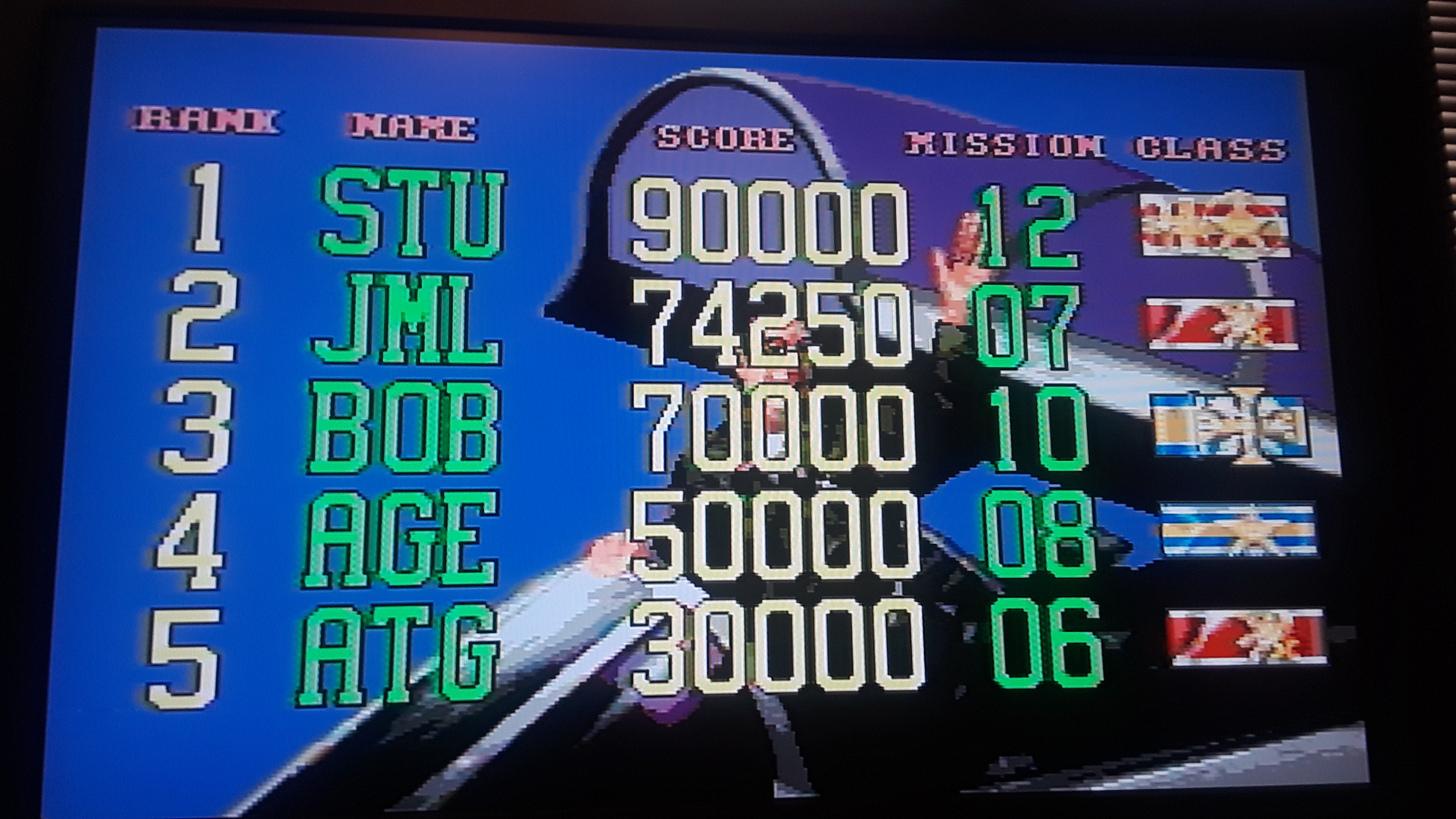 JML101582: G-LOC: Air Battle (Sega Genesis / MegaDrive Emulated) 74,250 points on 2019-07-23 18:20:50