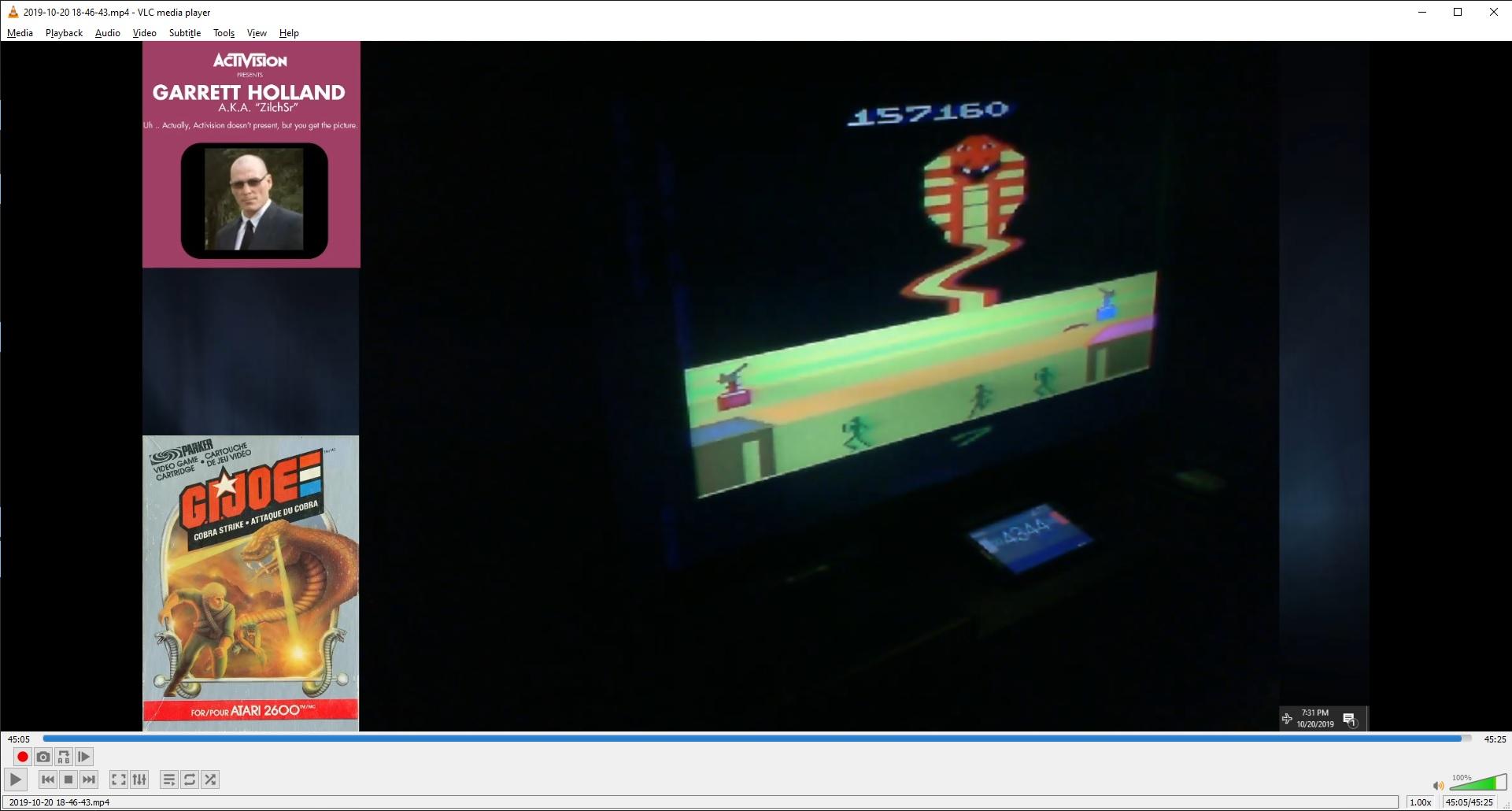 ZilchSr: G.I. Joe Cobra Strike (Atari 2600 Novice/B) 157,160 points on 2019-10-20 23:00:47