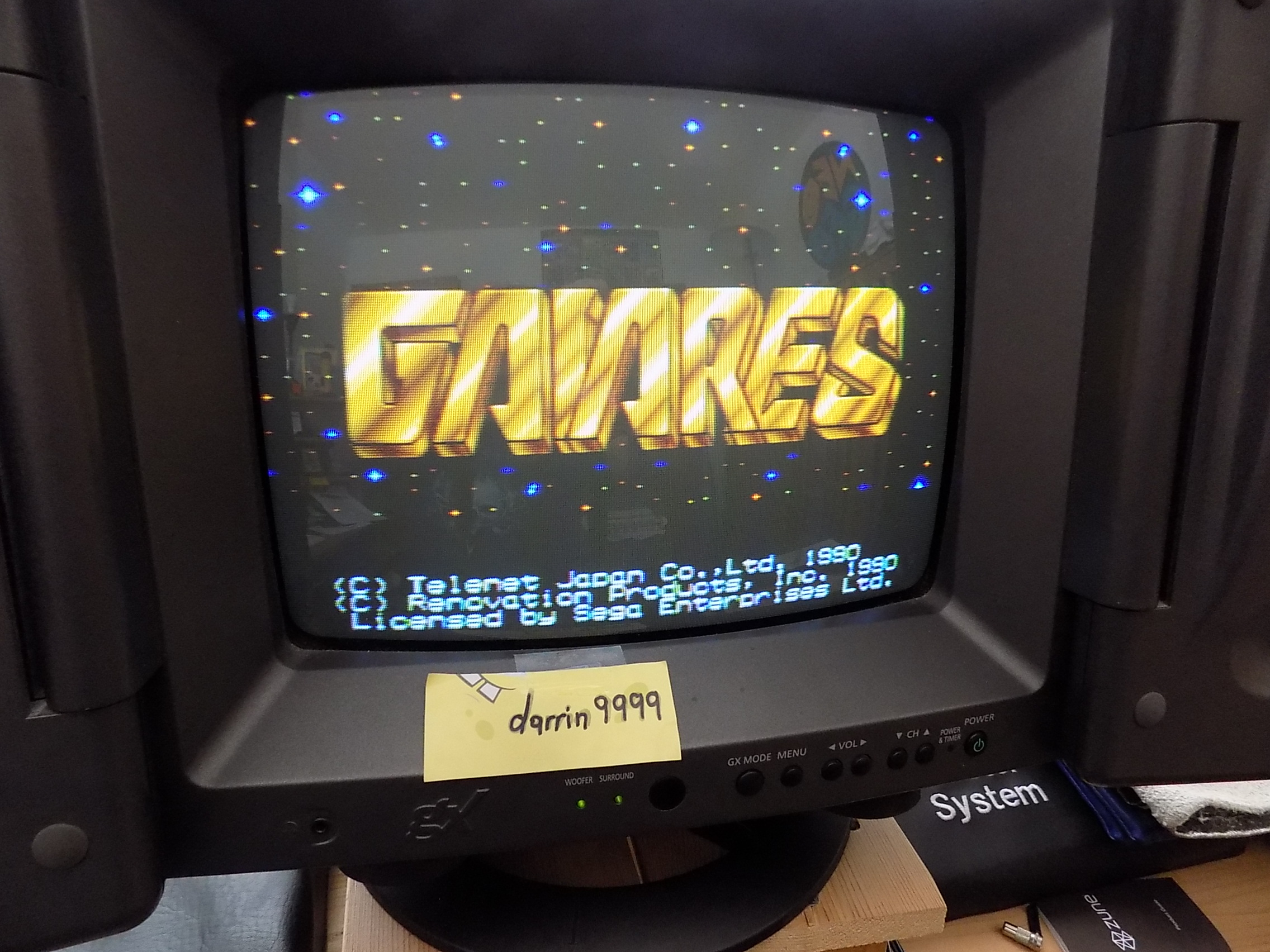 darrin9999: Gaiares (Sega Genesis / MegaDrive) 20,340 points on 2019-04-06 13:15:29