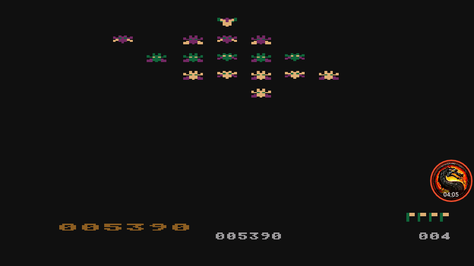 omargeddon: Galactic Chase (Atari 400/800/XL/XE Emulated) 5,390 points on 2020-05-24 19:26:21