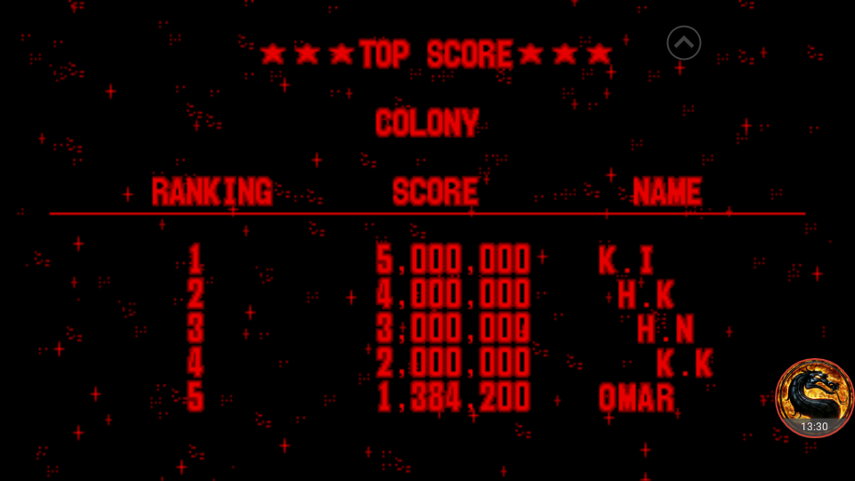 omargeddon: Galactic Pinball: Colony (Virtual Boy Emulated) 1,384,200 points on 2018-07-27 00:10:53