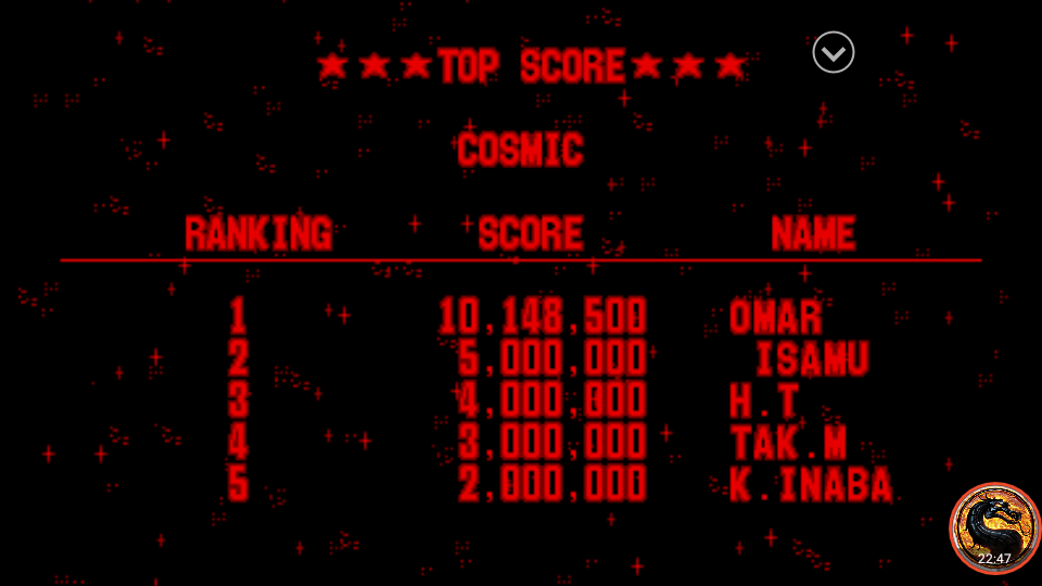 omargeddon: Galactic Pinball: Cosmic (Virtual Boy Emulated) 10,148,500 points on 2019-11-02 23:07:03