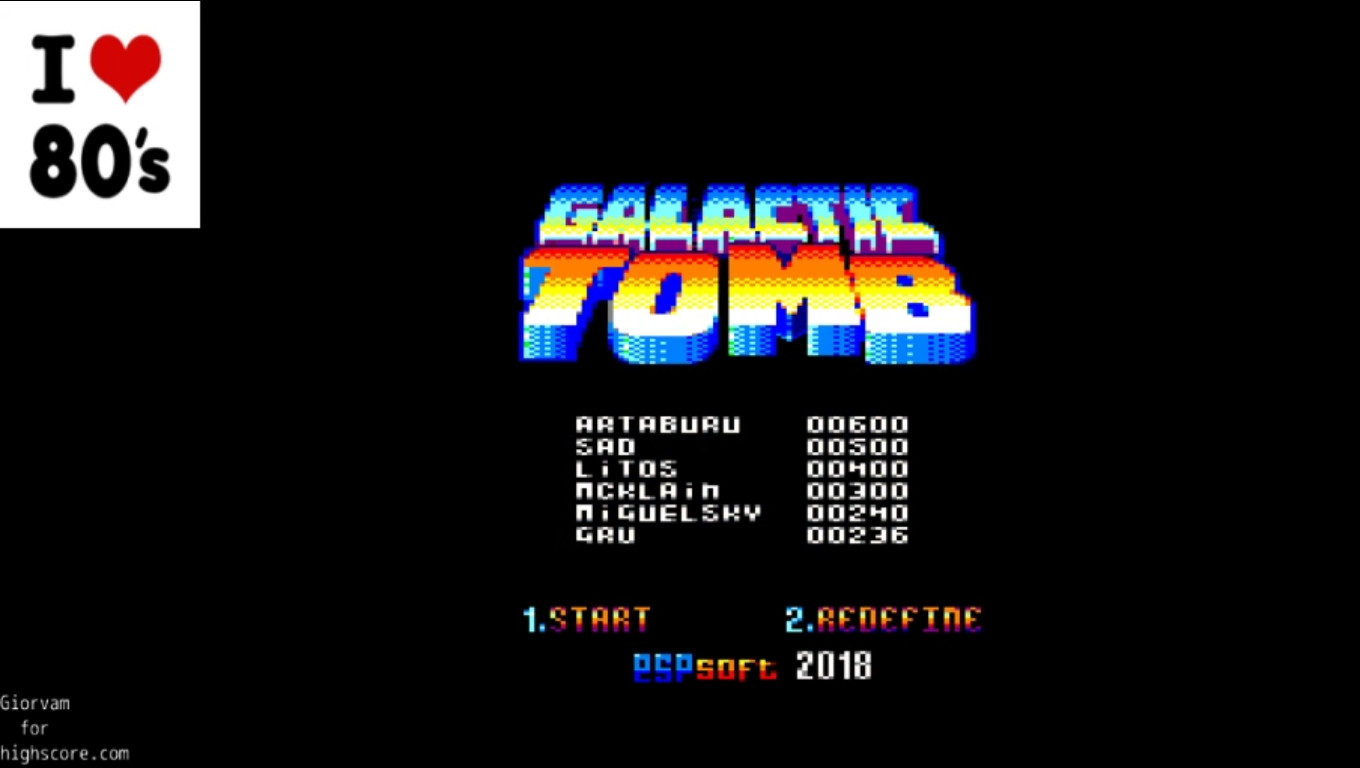 Giorvam: Galactic Tomb (Amstrad CPC Emulated) 236 points on 2020-01-09 04:01:26
